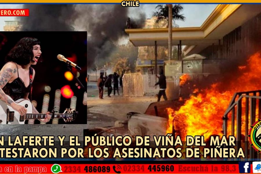 CHILE: Mon Laferte y el Público de Viña del Mar protestaron por los asesinatos de Piñera