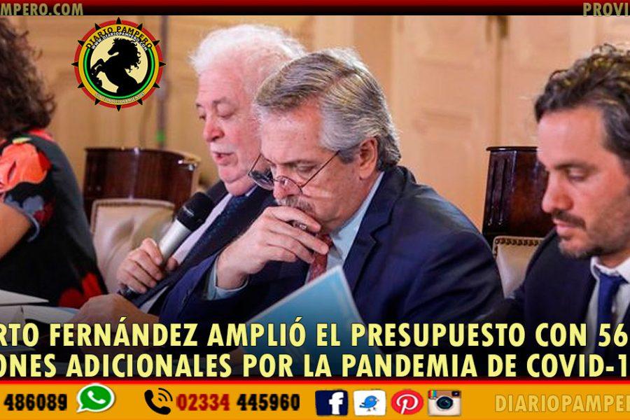 Alberto Fernández amplió el presupuesto con 56 mil millones adicionales por la pandemia de COVID-19