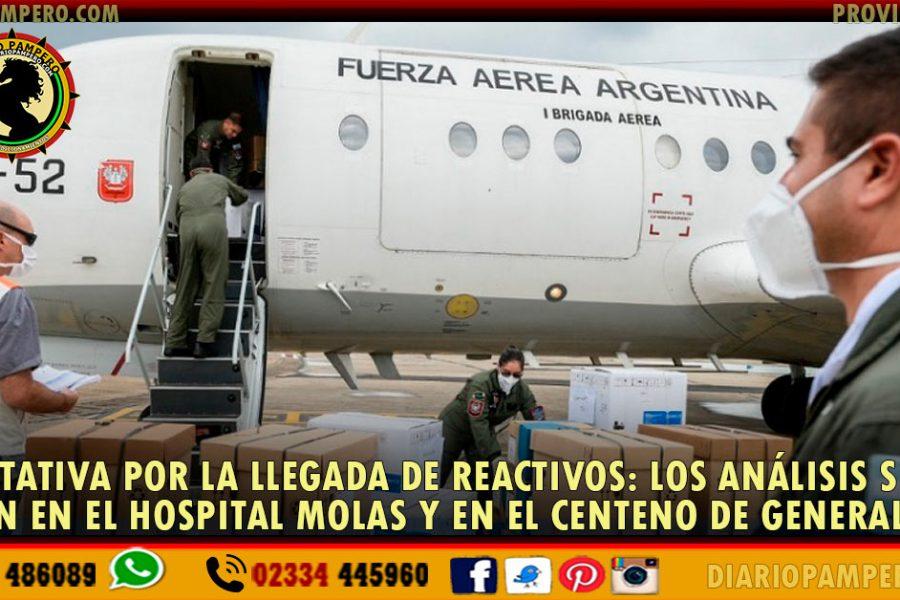 EXPECTATIVA por la llegada de reactivos: los análisis se harán en el Hospital Molas y en el Centeno de General Pico