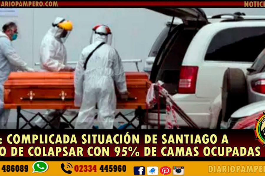 Chile: complicada situación de Santiago a punto de colapsar con 95% de camas ocupadas