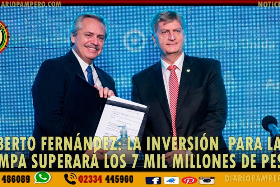 Alberto Fernández: La inversión  para La Pampa superará los 7 mil millones de pesos