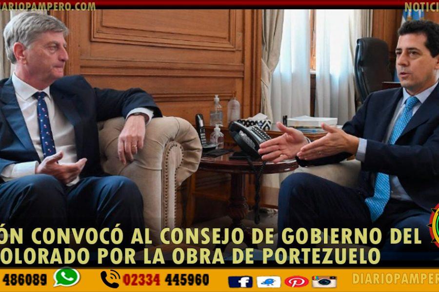 Nación convocó al Consejo de Gobierno del Río Colorado por la Obra de Portezuelo