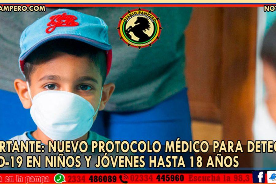 IMPORTANTE: nuevo protocolo médico para detectar COVID-19 en niños y jóvenes hasta 18 años