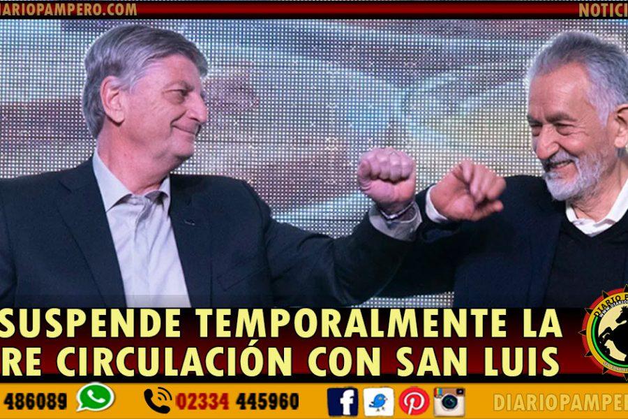 LA PAMPA: Se suspende  la libre circulación con San Luis