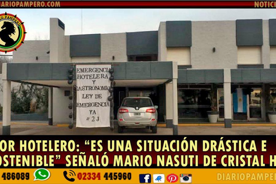 """Sector Hotelero: """"es una situación drástica e insostenible"""" señaló Mario Nasuti de Cristal Hotel"""