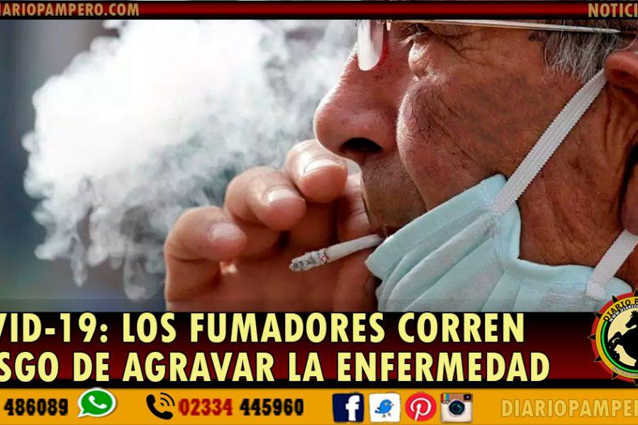 Los fumadores que contraen coronavirus corren riesgo de agravar la enfermedad