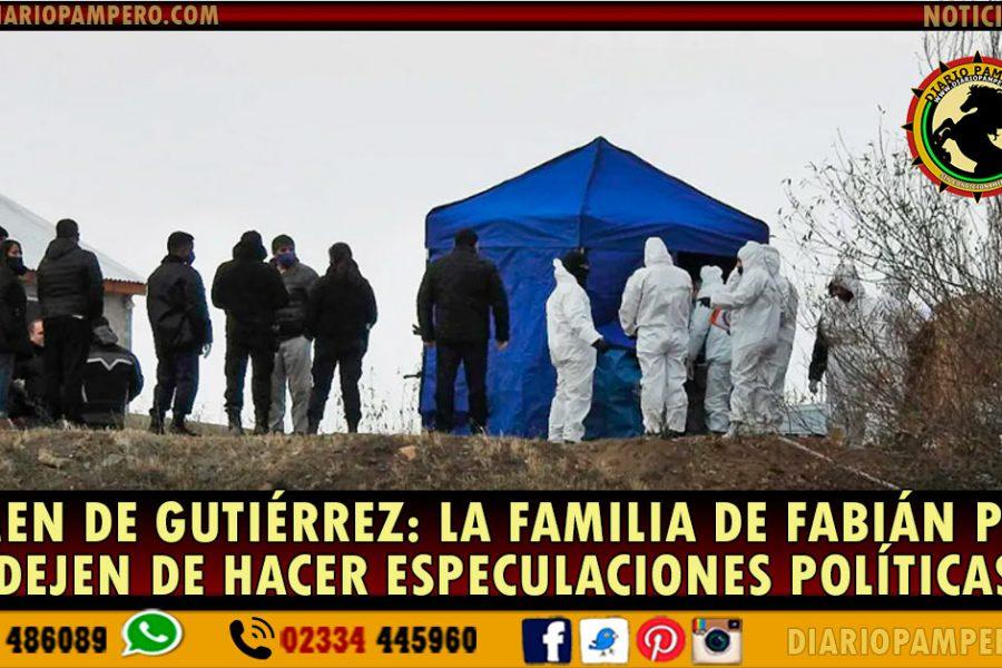 CRIMEN DE GUTIÉRREZ: la familia de Fabián pidió que dejen de hacer especulaciones políticas