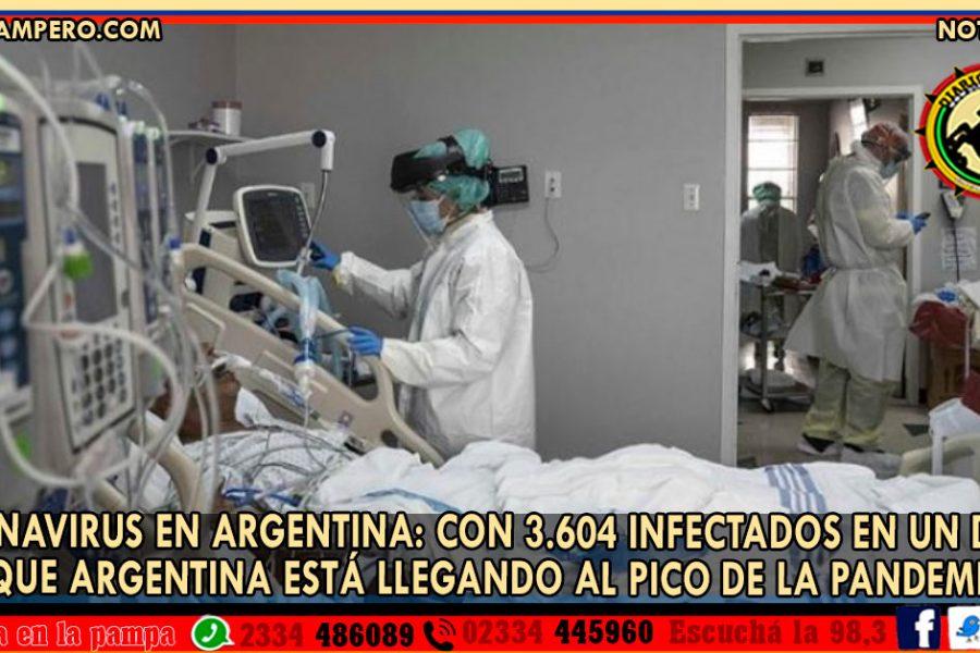 Coronavirus en Argentina: con 3.604 infectados en un día se cree que Argentina está llegando al pico de la pandemia