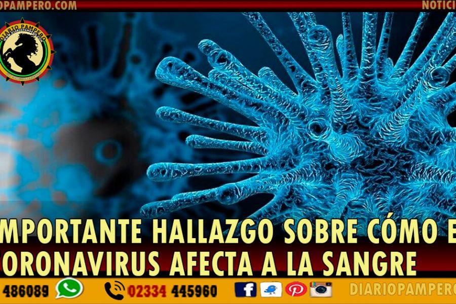 IMPORTANTE hallazgo sobre cómo el coronavirus afecta a la sangre