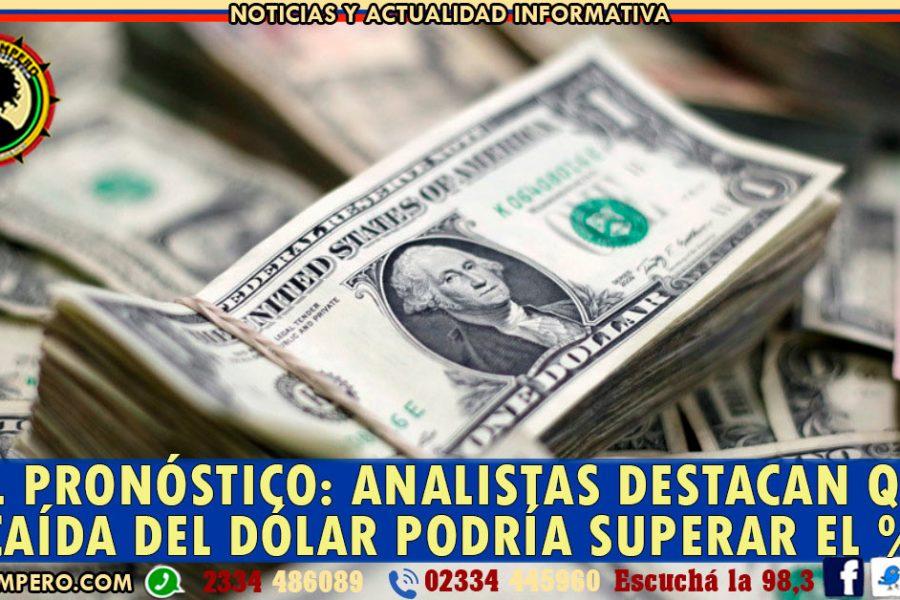 MAL PRONÓSTICO: analistas destacan que la caída del dólar podría superar el %35