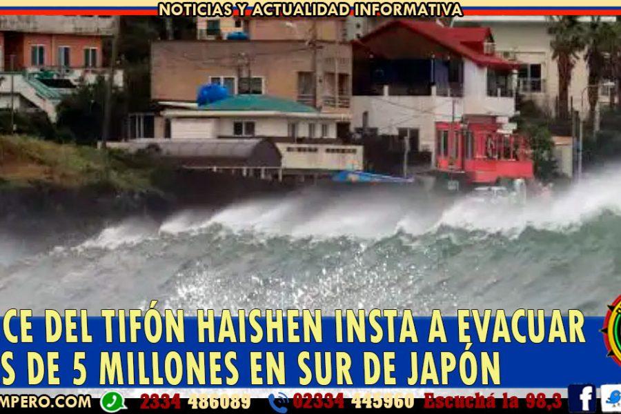 Avance del tifón Haishen insta a evacuar a más de 5 millones en sur de Japón