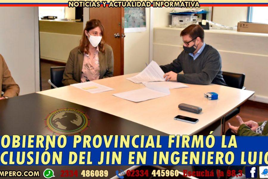 El Gobierno de La Pampa firmó la conclusión del JIN en Ingeniero Luiggi