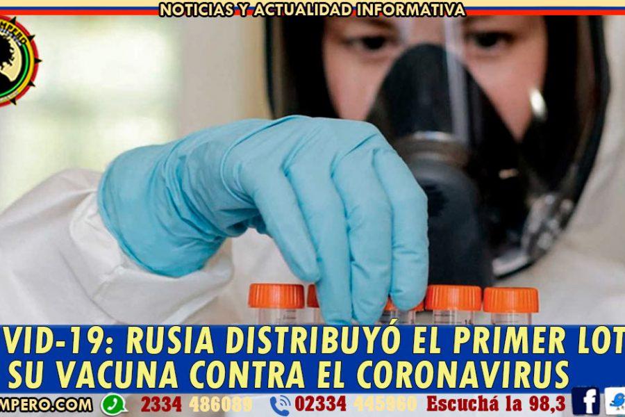 COVID-19: Rusia distribuyó el primer lote de su vacuna contra el coronavirus