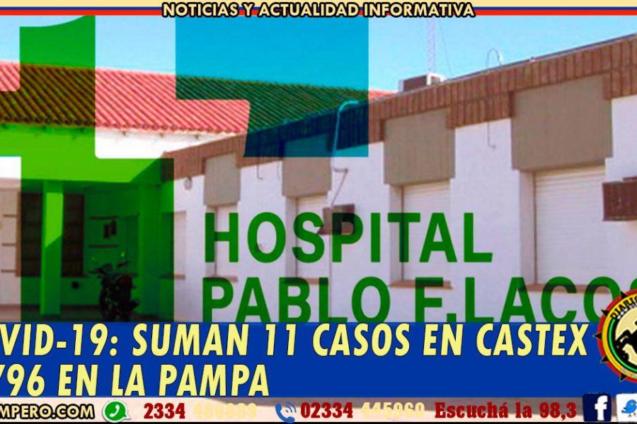 COVID-19: suman 11 casos en Eduardo Castex y 796 en La Pampa