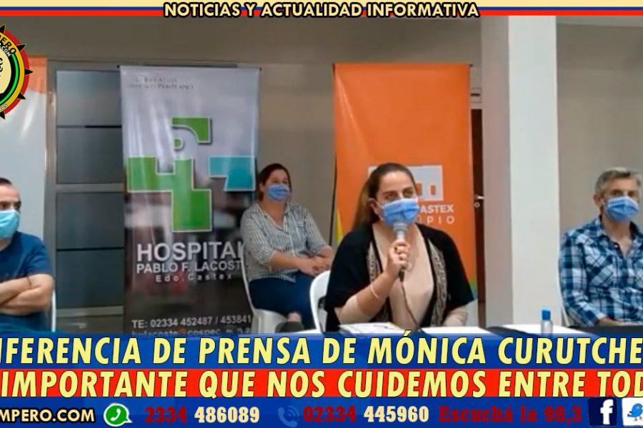 """CONFERENCIA DE PRENSA DE LA INTENDENTA DE EDUARDO CASTEX: """"Es importante que nos cuidemos entre todos"""", señaló Mónica Curutchet"""
