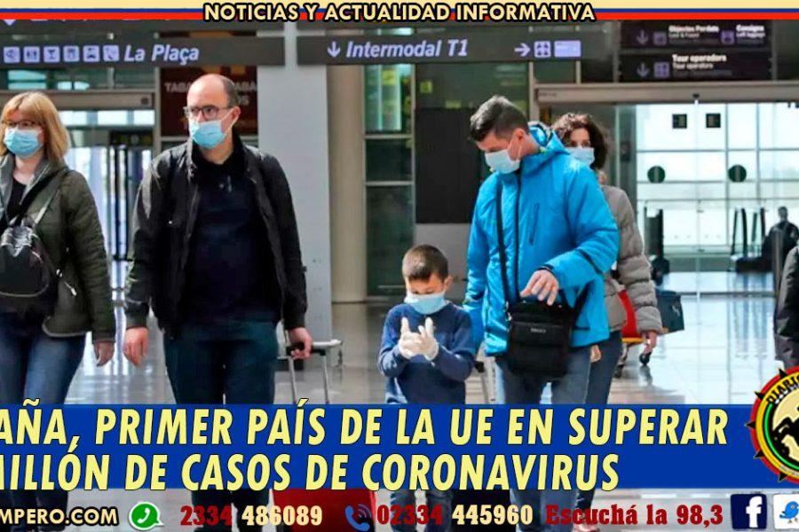 España, primer país de la UE en superar el millón de casos de coronavirus