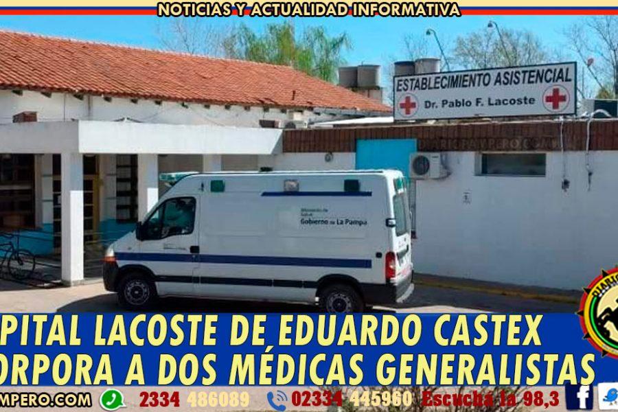 Hospital Lacoste de Eduardo Castex incorpora a dos médicas generalistas