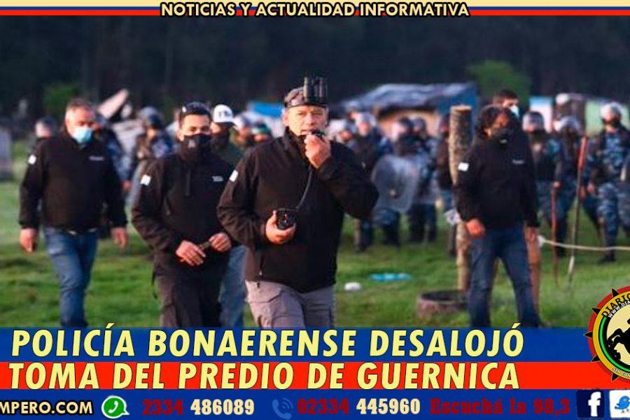 La Policía bonaerense desalojó la toma del predio de Guernica