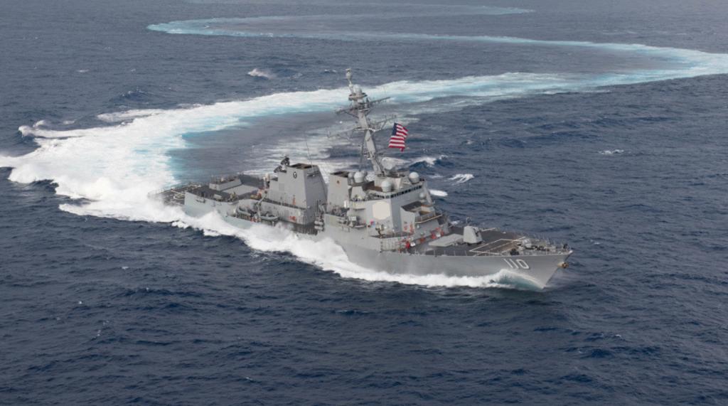 USS William P. Lawrence realiza operaciones cercanas a la costa de Venezuela