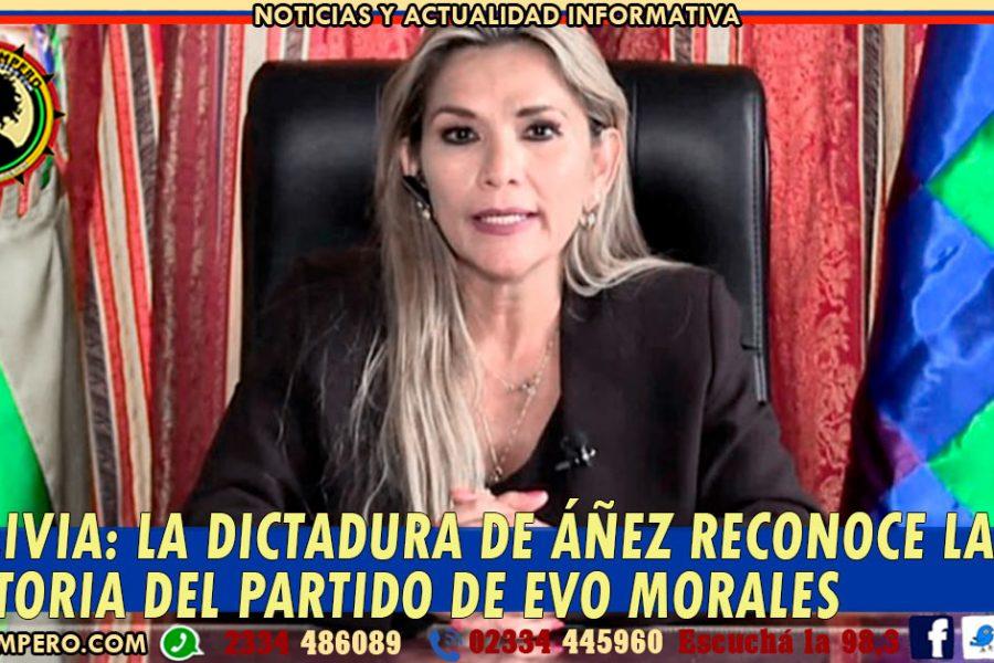 BOLIVIA: la dictadura de Áñez reconoce la victoria del partido de Evo Morales