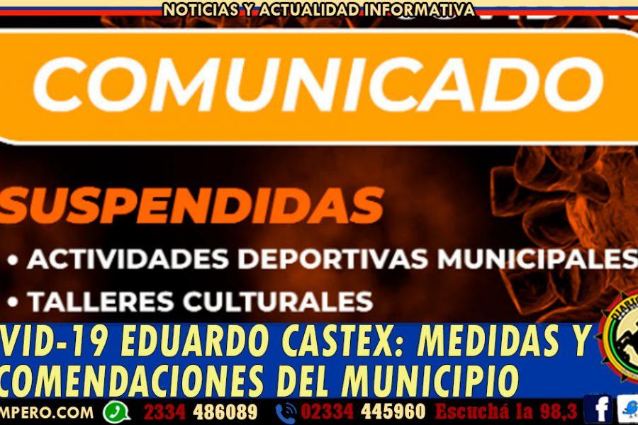 COVID-19 EDUARDO CASTEX: medidas y recomendaciones del Municipio Castense
