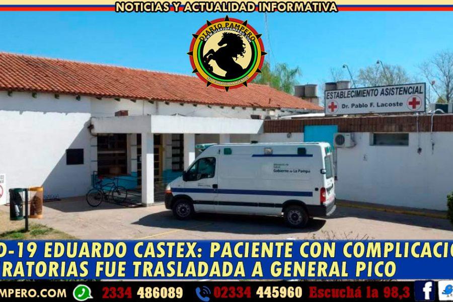 COVID-19 EDUARDO CASTEX: paciente con complicaciones respiratorias fue trasladada a General Pico