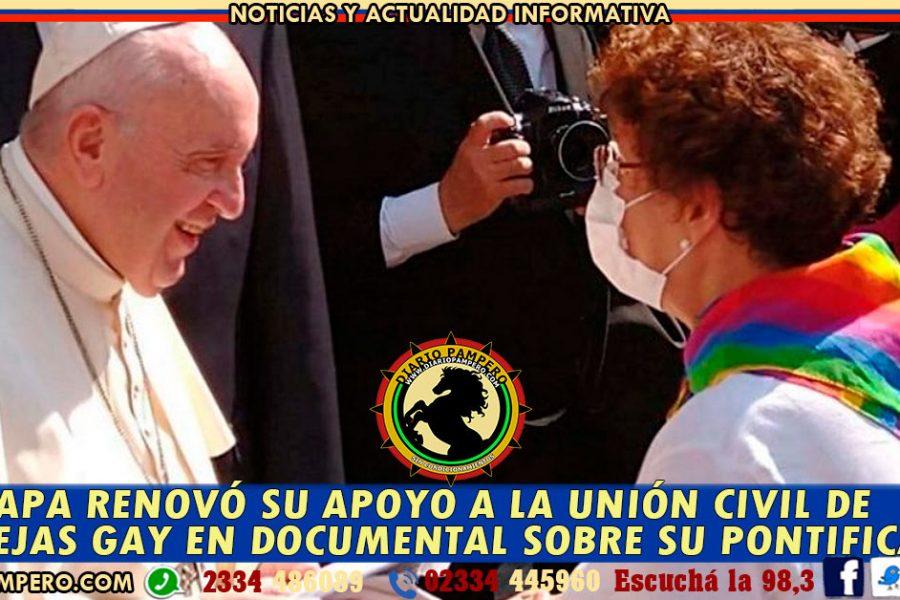 El Papa renovó su apoyo a la unión civil de parejas gay en documental sobre su pontificado