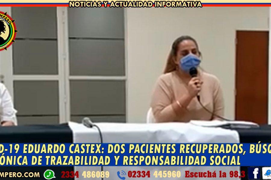 COVID-19 EDUARDO CASTEX: dos pacientes recuperados,   búsqueda telefónica de trazabilidad y responsabilidad social