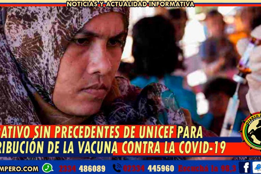 OPERATIVO SIN PRECEDENTES DE UNICEF para distribución de la vacuna contra la COVID-19