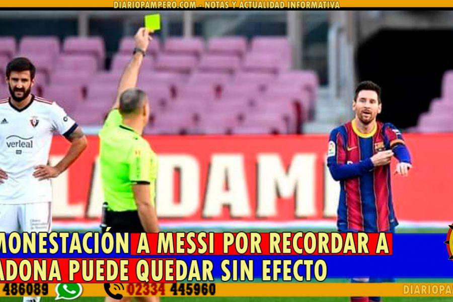 La amonestación a Messi por recordar a Maradona puede quedar sin efecto