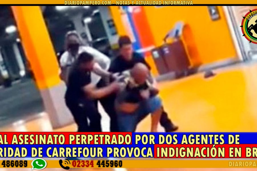 BRUTAL ASESINATO perpetrado por dos agentes de seguridad de Carrefour provoca indignación en Brasil