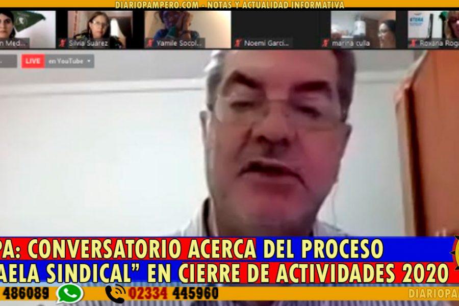 """UTELPa: conversatorio acerca del Proceso """"Micaela Sindical"""" en cierre de actividades 2020"""