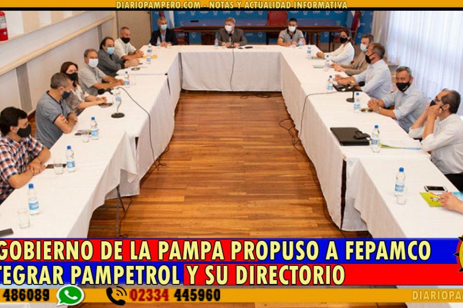 El Gobierno de La Pampa propuso a FEPAMCO integrar PAMPETROL y su Directorio