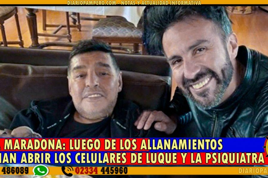 CAUSA MARADONA: luego de los allanamientos ordenan abrir los celulares de Luque y la Psiquiatra