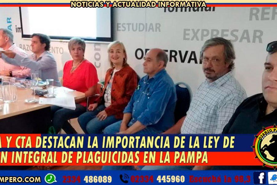 UTELPa y CTA destacan la importancia de la Sanción de la Ley de Gestión Integral de Plaguicidas en La Pampa