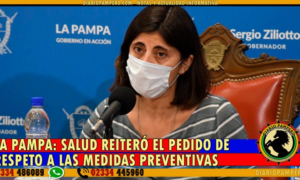 LA PAMPA: Salud reiteró el pedido de respeto a las medidas preventivas