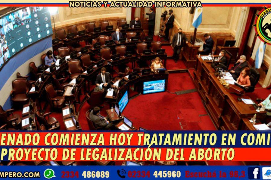 El Senado comienza hoy tratamiento en comisión del proyecto de legalización del aborto