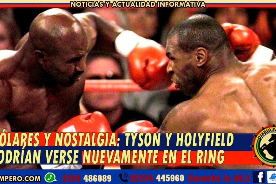 DÓLARES Y NOSTALGIA: Tyson y Holyfield podrían verse nuevamente en el ring