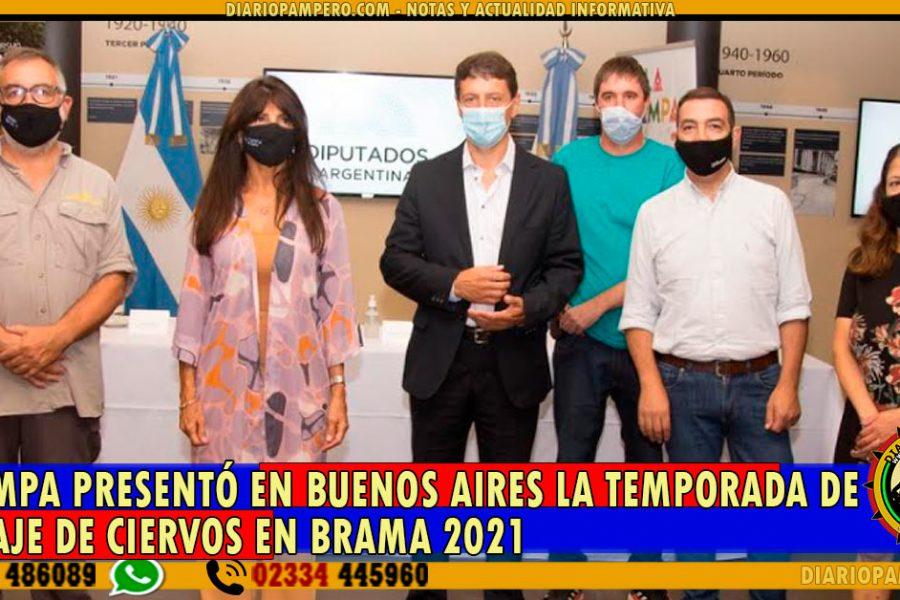 La Pampa presentó en Buenos Aires la Temporada de Avistaje de Ciervos en Brama 2021