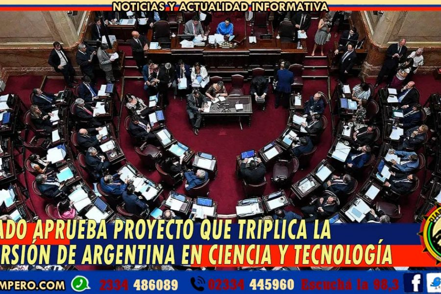 Senado aprueba proyecto que triplica la inversión de Argentina en Ciencia y Tecnología