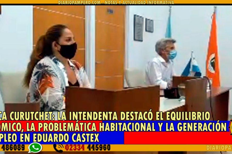 MÓNICA CURUTCHET: La Intendenta destacó el equilibrio económico, la problemática habitacional y la generación de empleo en Eduardo Castex