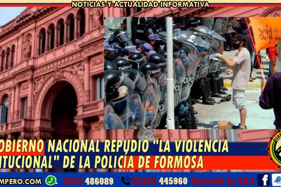 El Gobierno nacional repudió «la violencia institucional» de la policía de Formosa