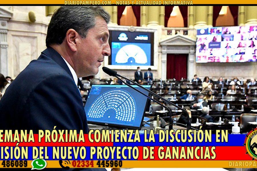 La semana próxima comienza la discusión en comisión del nuevo proyecto de Ganancias
