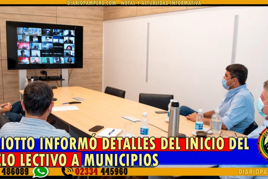 Ziliotto informó detalles del inicio del ciclo lectivo a Municipios