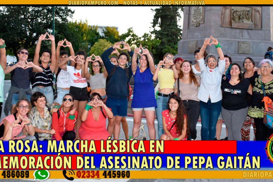 SANTA ROSA: marcha lésbica en conmemoración del asesinato de Pepa Gaitán