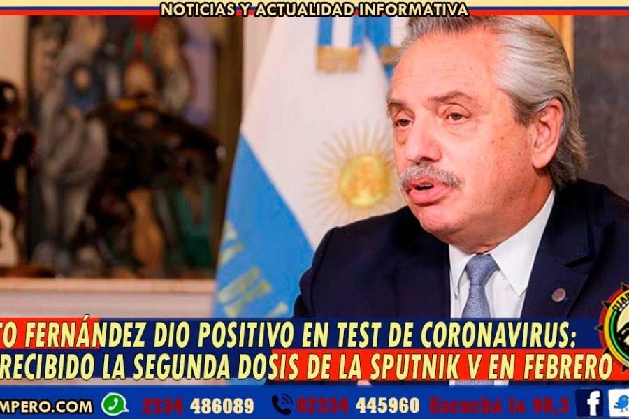ALBERTO FERNÁNDEZ dio positivo en test de Coronavirus: había recibido la segunda dosis de la Sputnik V en febrero