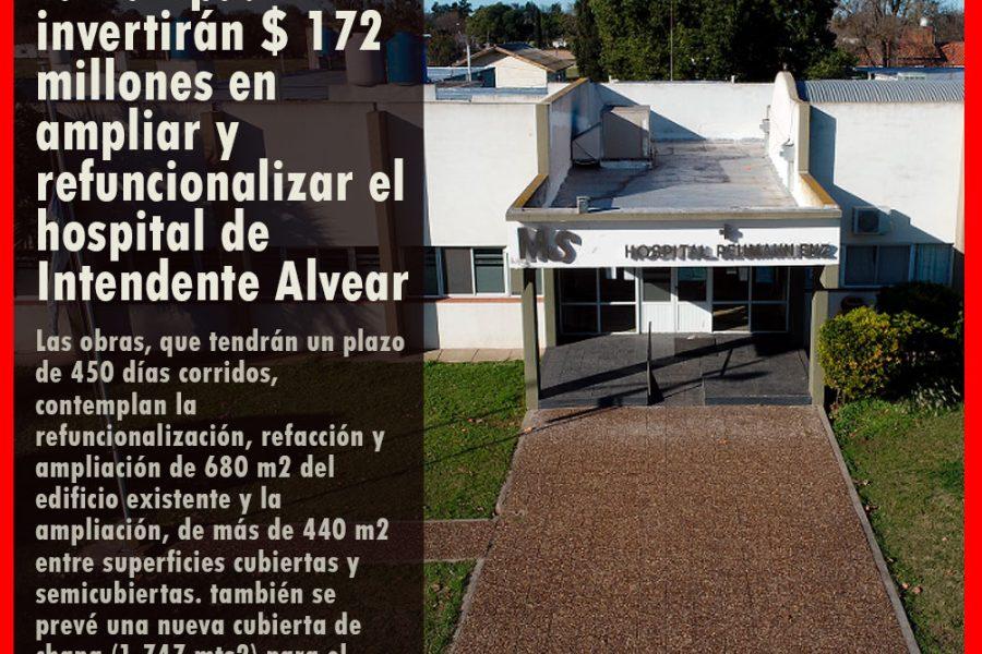 La Pampa:  invertirán $ 172 millones en ampliar y refuncionalizar el hospital de Intendente Alvear
