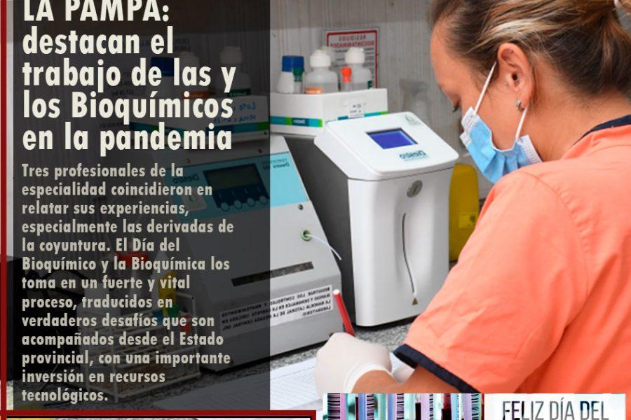 LA PAMPA: destacan el trabajo de las y los Bioquímicos en la pandemia