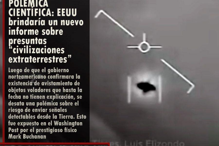 """POLÉMICA CIENTÍFICA: EEUU brindaría un nuevo informe sobre presuntas """"civilizaciones extraterrestres"""""""
