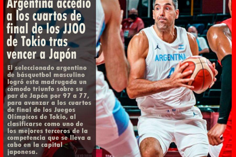 Argentina accedió a los cuartos de final de los JJOO de Tokio tras vencer a Japón